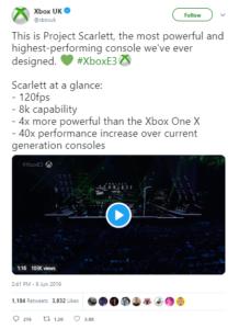 Tweet from Xbox UK