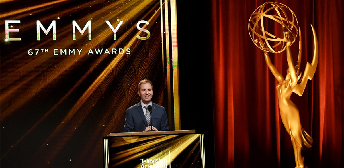 WEST HOLLYWOOD, CA - JULY 16: Television Academy President and COO Maury McIntyre speaks at the 67th Primetime Emmy Awards nominations at SilverScreen Theater at the Pacific Design Center on July 16, 2015 in West Hollywood, California. The 67th Emmy Awards, hosted by Andy Samberg, airs live Sunday, September 20 on FOX and will originate from the Microsoft Theater (formerly Nokia Theatre). (Photo by Kevin Winter/Getty Images)